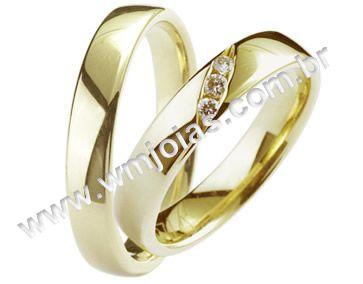 Aliança de noivado e casamento WM1367