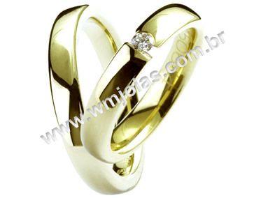 Aliança de noivado e casamento WM1380