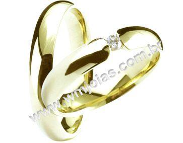 Aliança de noivado e casamento WM1382
