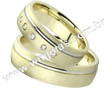 Aliança de noivado e casamento WM1394