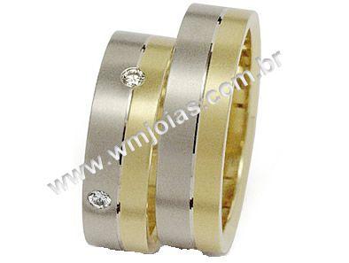 Aliança de noivado e casamento WM1464