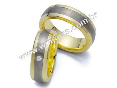 Aliança de noivado e casamento WM1470