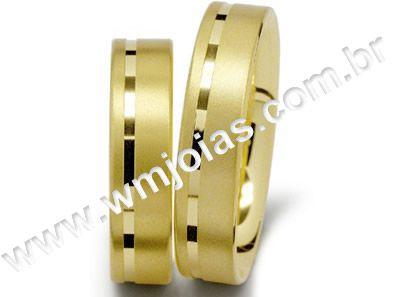 Aliança de noivado e casamento WM1481