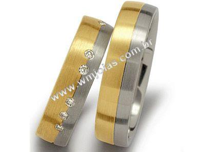 Aliança de noivado e casamento WM1487