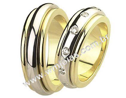 Aliança de noivado e casamento WM1501