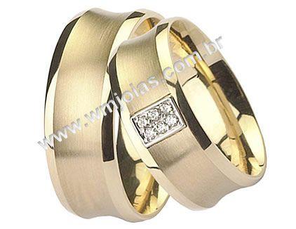 Aliança de noivado e casamento WM1505