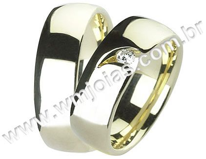 Aliança de noivado e casamento WM1512