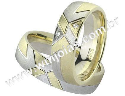 Aliança de noivado e casamento WM1524