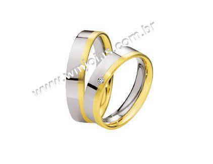 Aliança de noivado e casamento WM1540
