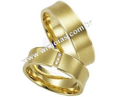 Aliança de noivado e casamento WM1601