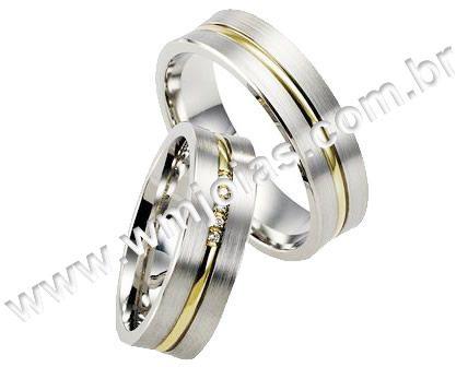 Aliança de noivado e casamento WM1605