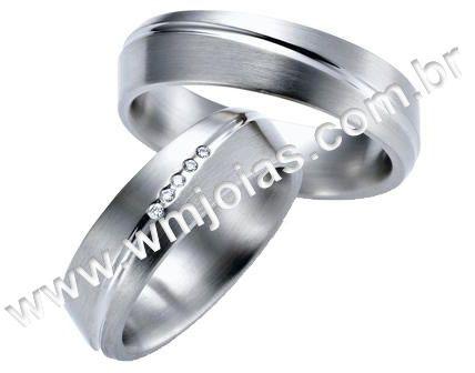 Aliança de noivado e casamento WM1607