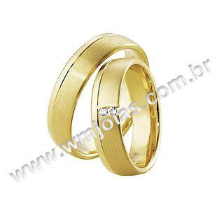 Aliança de noivado e casamento WM1610