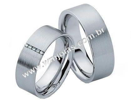 Aliança de noivado e casamento WM1613