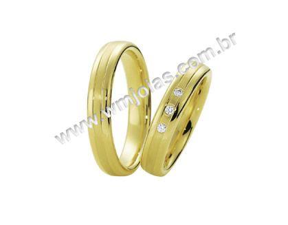 Aliança de noivado e casamento WM1619