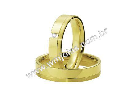 Aliança de noivado e casamento WM1621