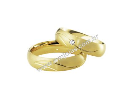 Aliança de noivado e casamento WM1623
