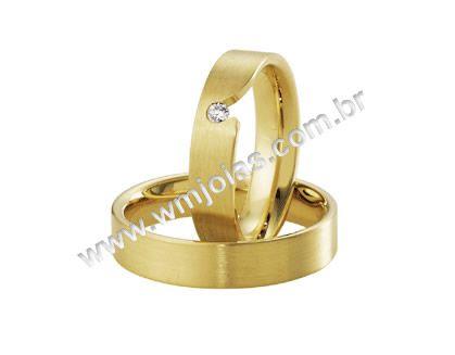 Aliança de noivado e casamento WM1624