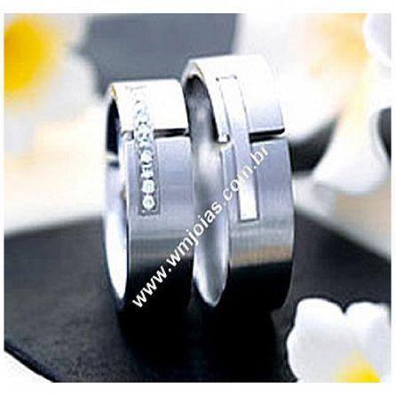 Aliança de noivado e casamento WM1684