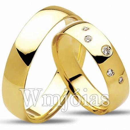 Aliança de noivado e casamento WM3028
