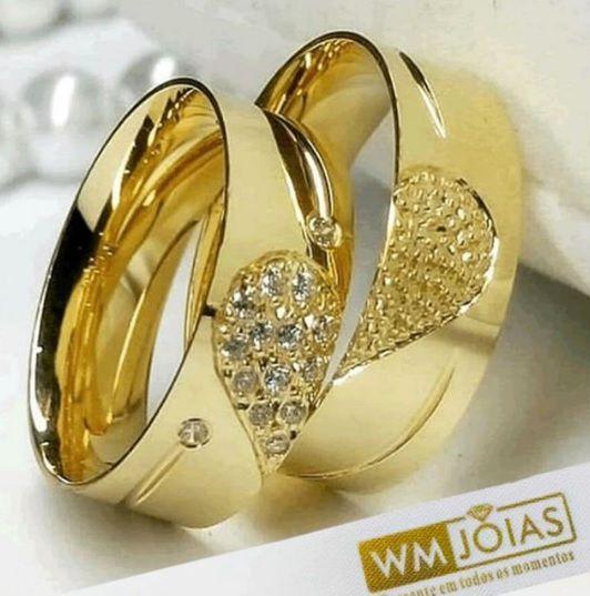 Aliança  de noivado ouro amarelo 18k 14g e  Largura 7 mm- WM10149
