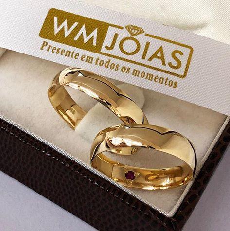 Aliança de ouro 18k 12G 6mm WM10151