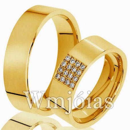 Aliança de ouro 18k 12G 6,5mm- WM2996