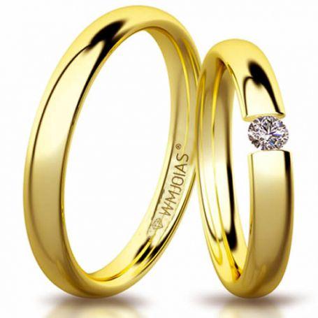 Aliança de ouro absolut WM3198