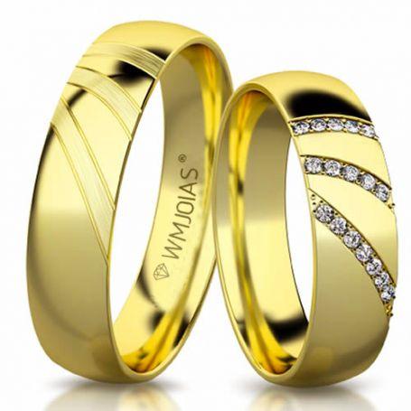 Aliança de ouro antares WM3166