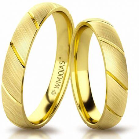 Aliança de ouro antares WM3197