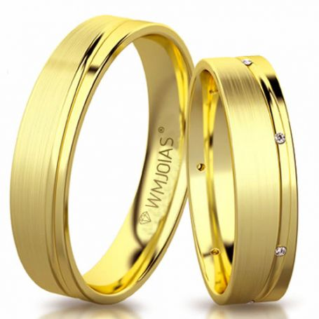 Aliança de ouro betina WM3178