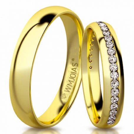 Aliança de ouro braque WM3180