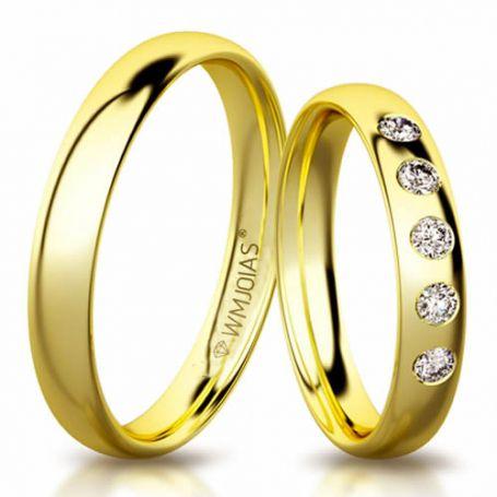 Aliança de ouro elemental plus WM3191