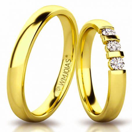 Aliança de ouro elliot WM3189