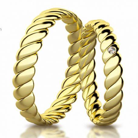 Aliança de ouro eternita WM3179