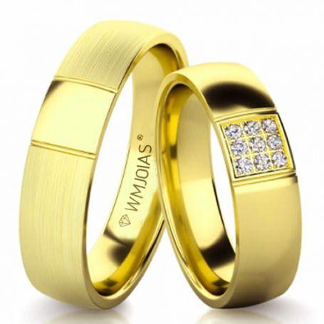 Aliança de ouro forever premium WM3157