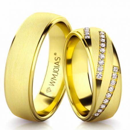 Aliança de ouro Grandiosa WM3186