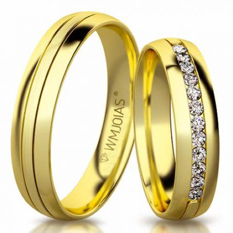 Aliança de ouro morrison WM3164