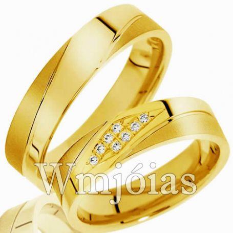 Aliança de ouro para casamento WM2998