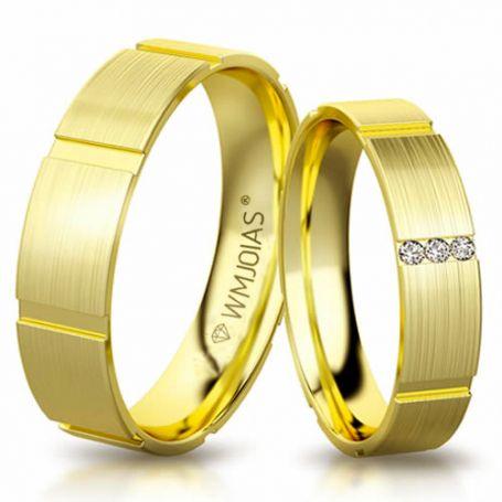 Aliança de ouro Pinamar WM3184