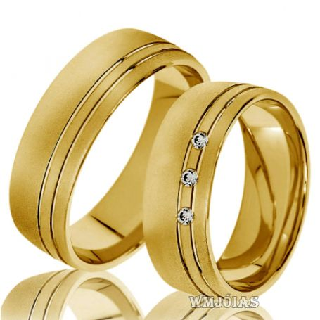 Aliança de ouro Rj comprar WM10123