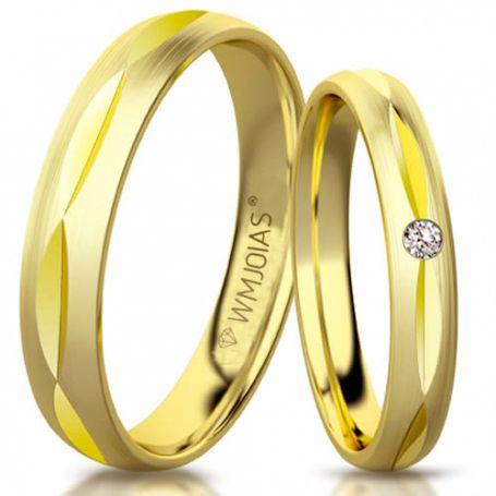Aliança de ouro salvattore WM3172