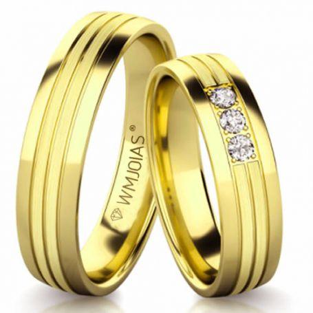 Aliança de ouro santorini WM3161