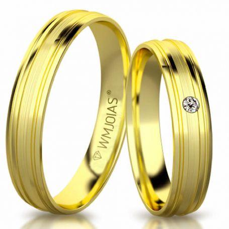 Aliança de ouro seleta plus WM3173