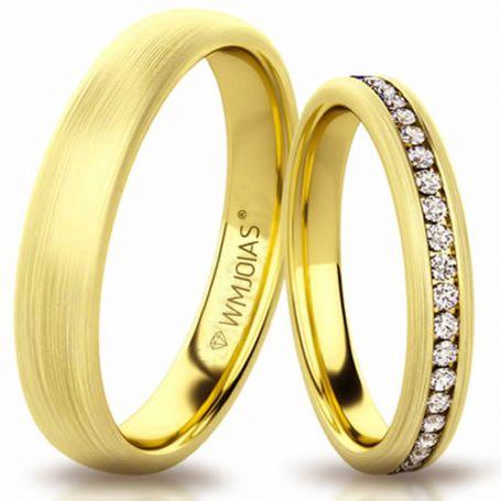 Aliança de ouro shell fit WM3190