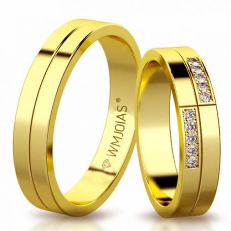 Aliança de ouro siena WM3194