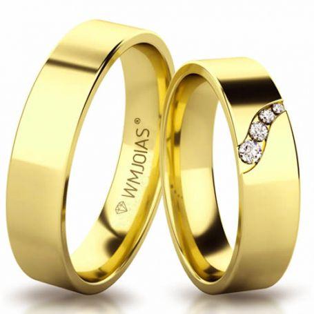 Aliança de ouro soberana WM3167