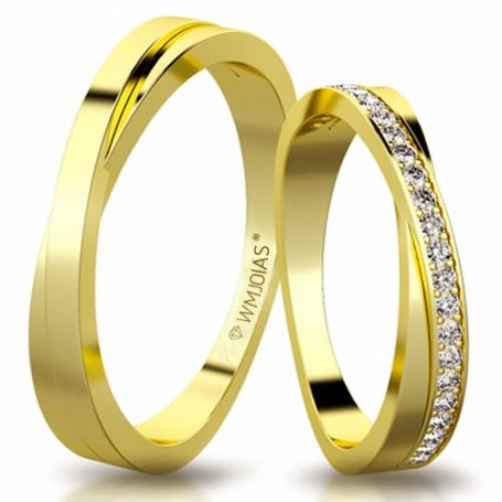 Aliança de ouro soft WM3156