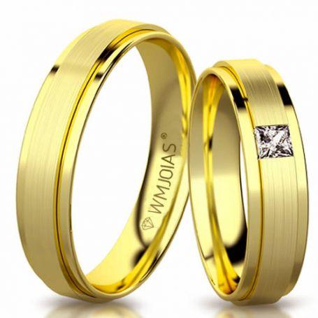 Aliança de ouro truly slim 3177