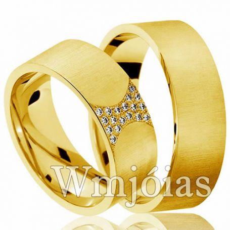 Aliança de ouro WM2991